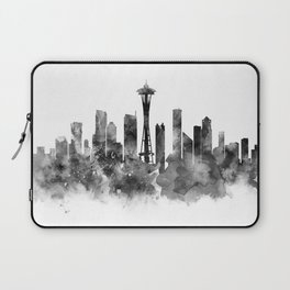 Seattle Black and White Laptop Sleeve