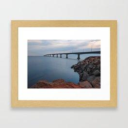 Confederation Twilight Bridge Framed Art Print