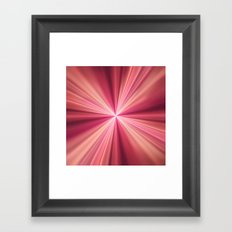 Pink Rays Abstract Fractal Art Framed Art Print