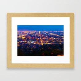 Los Angeles Skyline Framed Art Print