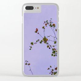 autumn leaves looking at infinity Clear iPhone Case