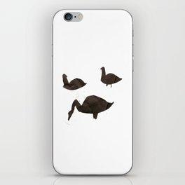 Swan Print I iPhone Skin