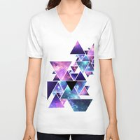 cosmos V-neck T-shirts featuring cosmos  by artic