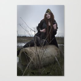 Alone in the Wasteland Pin-up 2 Canvas Print