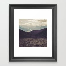 Distant roads Framed Art Print