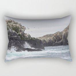 The Farne Islands Cliffs Rectangular Pillow