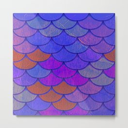 Multicolor Scales Metal Print