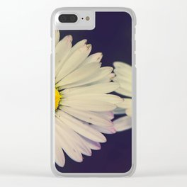 Twin Daises Clear iPhone Case