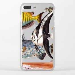 Fish World yellow Clear iPhone Case