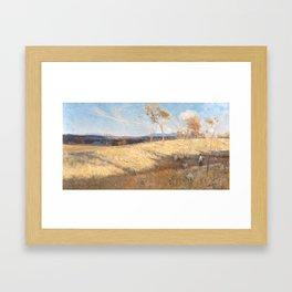 Eaglemont camp, Heidelberg,  Arthur Streeton Framed Art Print