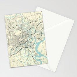 Ho Chi Minh Vietnam City Map Stationery Cards
