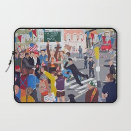 The colourful Assassination of Donald Trump in New York City Laptop Sleeve
