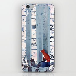 The Birches (in Blue) iPhone Skin