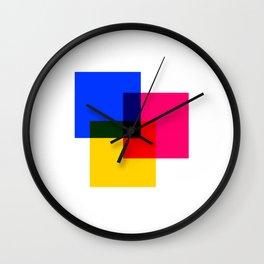 CMYK 02 Wall Clock