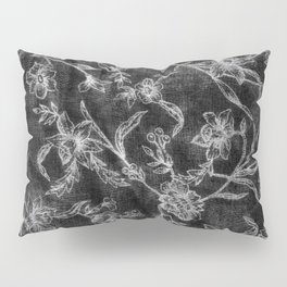 Flower Pattern (Black version) Pillow Sham