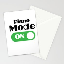 Piano Player Funny Gift - Piano Keyboard Keys Stationery Cards