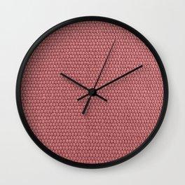 Woven Texture RED Quartz Wall Clock