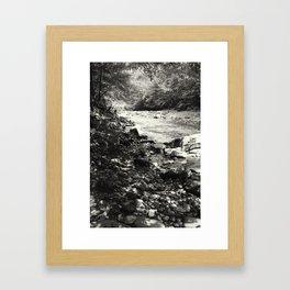 Speckled Creekside Framed Art Print