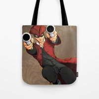 dick Tote Bags featuring Dick Turpin by Eco Comics