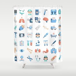 CUTE MEDICINE / SCIENCE / DOCTOR PATTERN Shower Curtain
