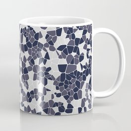 Stained glass colorful voronoi with fillet, vector abstract. Irregular cells background pattern. 2D Coffee Mug