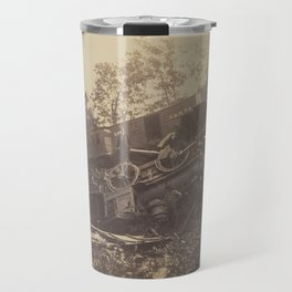 Andrew J. Russell - Railroad Accident Caused by Rebels (1862) Travel Mug
