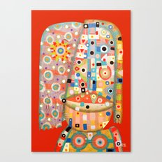 Girl with the flower in hair Canvas Print