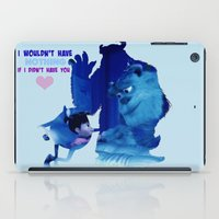monster inc iPad Cases featuring Monsters Inc by Keri Lynne