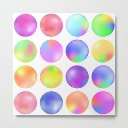 Colorful fluid bubbles Metal Print