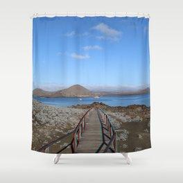 The land bridge Shower Curtain