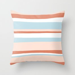 mesa, desert pastel stripes Throw Pillow