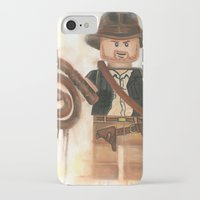 indiana jones iPhone & iPod Cases featuring Indiana Jones Lego by Toys 'R' Art