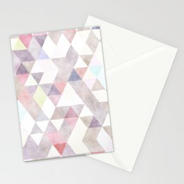 Modern abstract geometrical pastel tones watercolor Stationery Cards
