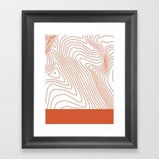 Contours I Framed Art Print