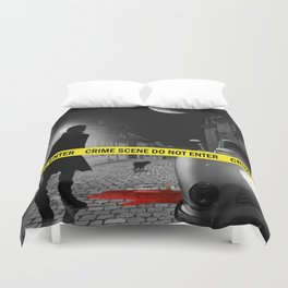 Crime scene do not enter Duvet Cover