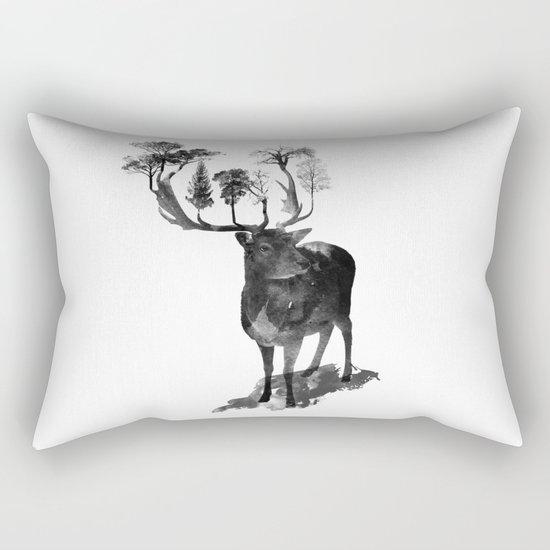 The Black Forest Deer Rectangular Pillow