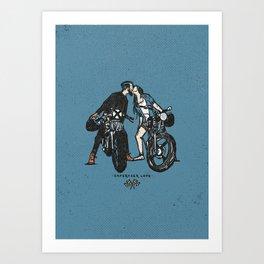 Caferacer Love Art Print