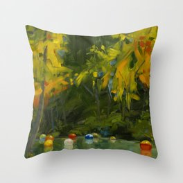 Remembering A Day With Chihuly Throw Pillow