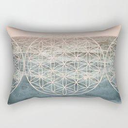 Mandala Flower of Life Sea Rectangular Pillow