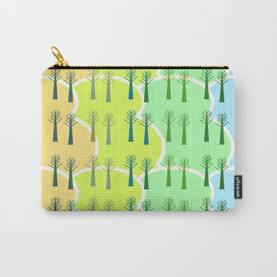 Trees and colorful clouds Carry-All Pouch