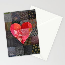 Patched Heart Stationery Cards
