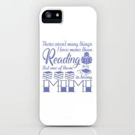 Reading Mimi iPhone Case