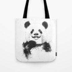 Funny panda Tote Bag