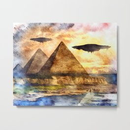 Ancient Aliens and Ancient Egypt Metal Print