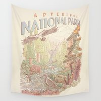 parks and recreation Wall Tapestries featuring Adventure National Parks by Taylor Rose