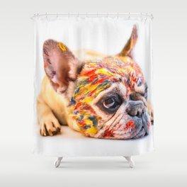 French Bulldog Cute Pet Shower Curtain