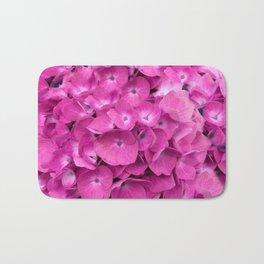 Artful Pink Hydrangeas Floral Design Bath Mat