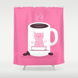 Coffee makes me poop Shower Curtain