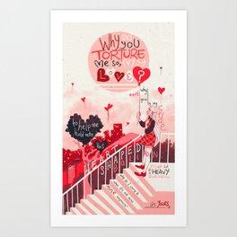 Heart Shaped Balloon Art Print