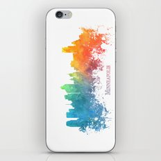 Skyline Minneapolis colored iPhone & iPod Skin